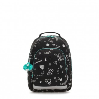 Black Friday 2020 - Kipling CLASS ROOM S Small backpack with laptop protection Girl Doodle