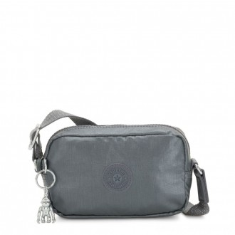 Black Friday 2020 - Kipling SOUTA Small Crossbody with Adjustable Shoulder Strap Steel Grey Gifting