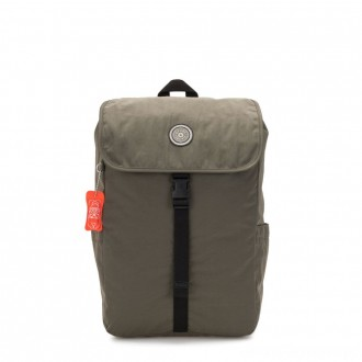 Black Friday 2020 - Kipling WINTON Large backpack with pushbuckle fastening and laptop protection Cool Moss