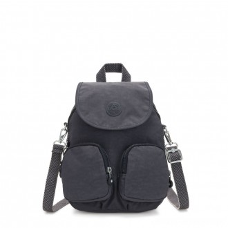 Black Friday 2020 - Kipling FIREFLY UP Small Backpack Covertible To Shoulder Bag Night Grey