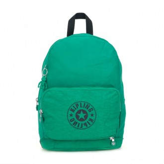 Kipling CLASSIC NIMAN FOLD 2-In-1 Convertible Crossbody Bag and Backpack Lively Green