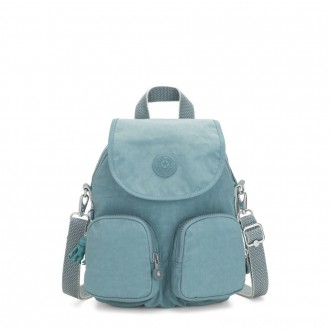 Black Friday 2020 - Kipling FIREFLY UP Small Backpack Covertible To Shoulder Bag Aqua Frost