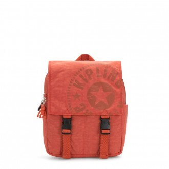 Black Friday 2020 - Kipling LEONIE S Small Drawstring Backpack with Push Buckle Hearty Orange