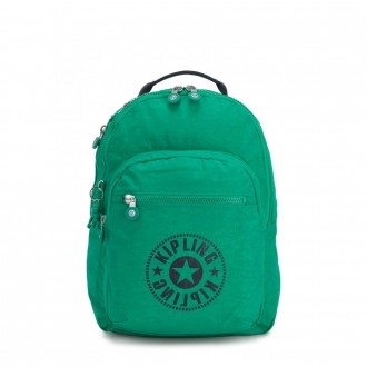 Kipling CLAS SEOUL Water Repellent Backpack with Laptop Compartment Lively Green