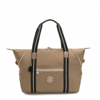 Kipling ART M Travel Tote With Trolley Sleeve Sand