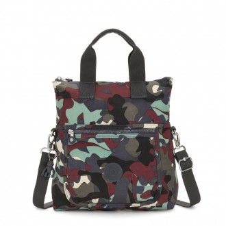 Black Friday 2020 - Kipling ELEVA Shoulderbag with Removable and Adjustable Strap Camo Large