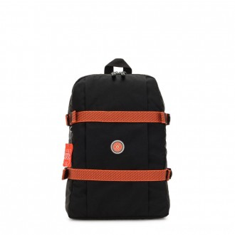 Black Friday 2020 - Kipling TAMIKO Medium backpack with buckle fastening and laptop protection Brave Black C