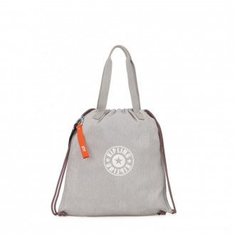 Black Friday 2020 - Kipling NEW HIPHURRAY Small Tote with drawable fabric Light Denim