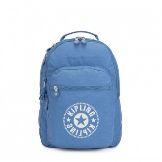 Kipling CLAS SEOUL Water Repellent Backpack with Laptop Compartment Dynamic Blue
