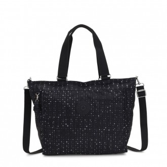 Black Friday 2020 - Kipling NEW SHOPPER L Large Shoulder Bag With Removable Shoulder Strap Tile Print