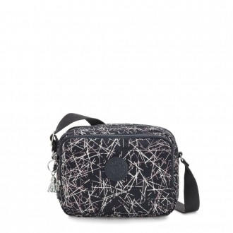 Black Friday 2020 - Kipling SILEN Small Across Body Shoulder Bag Navy Stick Print