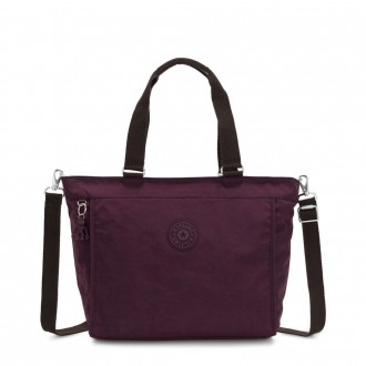 Black Friday 2020 - Kipling NEW SHOPPER L Large Shoulder Bag With Removable Shoulder Strap Dark Plum