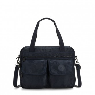 Black Friday 2020 - Kipling MARIC Working Bag with laptop protection Satin Camo Blue