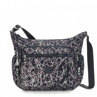 Black Friday 2020 - Kipling GABBIE Medium Shoulder Bag Navy Stick Print