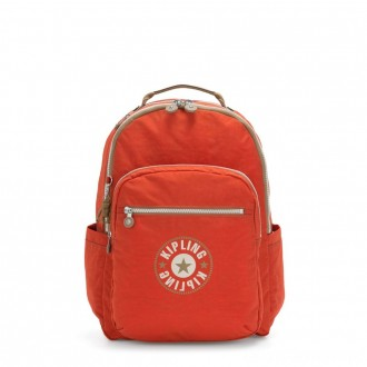 Black Friday 2020 - Kipling SEOUL Large backpack with Laptop Protection Funky Orange Block