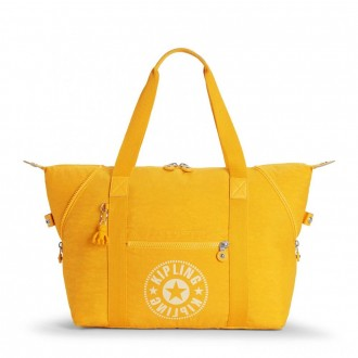 Black Friday 2020 - Kipling ART M Medium Tote Bag with 2 Front Pockets Lively Yellow