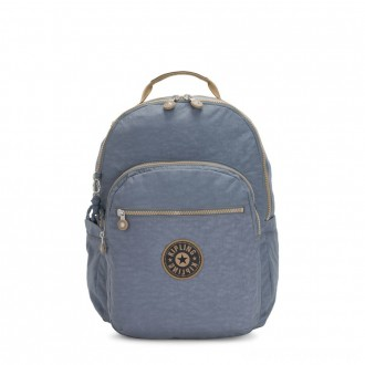 Black Friday 2020 - Kipling SEOUL Large backpack with Laptop Protection Stone Blue Block