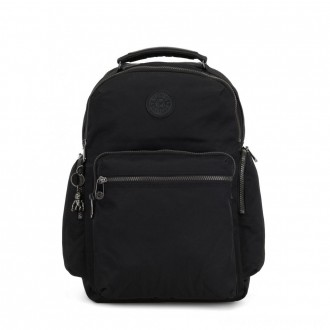 Black Friday 2020 - Kipling OSHO Large backpack with organsiational pockets Rich Black