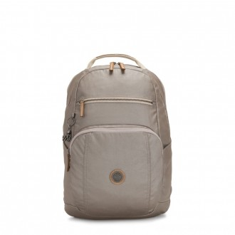 Black Friday 2020 - Kipling TROY Large Backpack with padded laptop compartment Fungi Metal