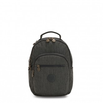 Black Friday 2020 - Kipling SEOUL S Small Backpack with Tablet Compartment Black Indigo