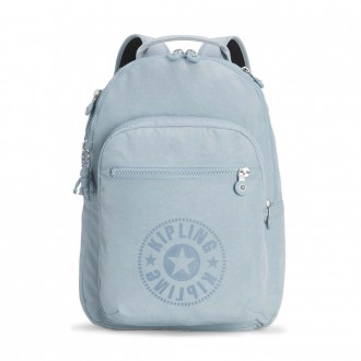 Black Friday 2020 - Kipling CLAS SEOUL Water Repellent Backpack with Laptop Compartment Mellow Blue C