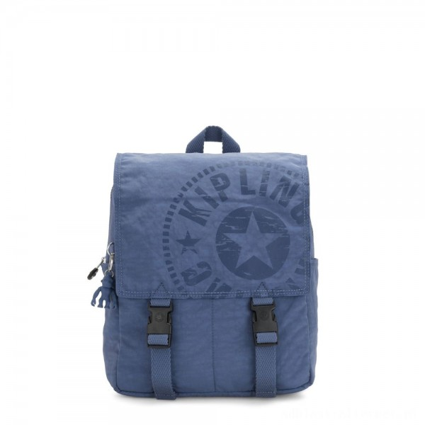 Black Friday 2020 - Kipling LEONIE S Small Drawstring Backpack with Push Buckle Soulfull Blue