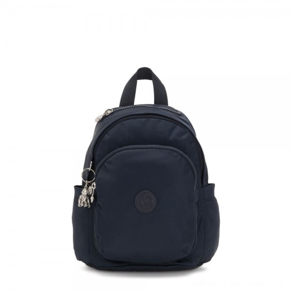 Black Friday 2020 - Kipling DELIA MINI Small Backpack with Front Pocket and Top Handle True Blue Twill