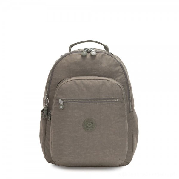 Kipling SEOUL Large backpack with Laptop Protection Seagrass