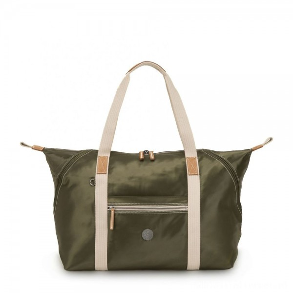 Black Friday 2020 - Kipling ART M Travel Tote with Trolley Sleeve Elevated Green