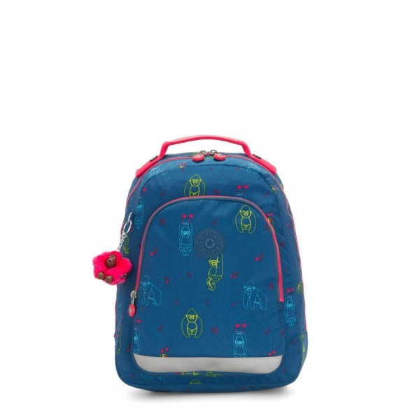 Kipling CLASS ROOM S Small backpack with laptop protection Rocking Monkey
