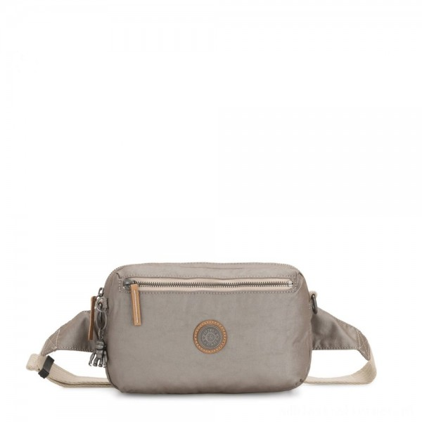Black Friday 2020 - Kipling HALIMA 2-in-1 Convertible Crossbody and Bumbag Fungi Metal