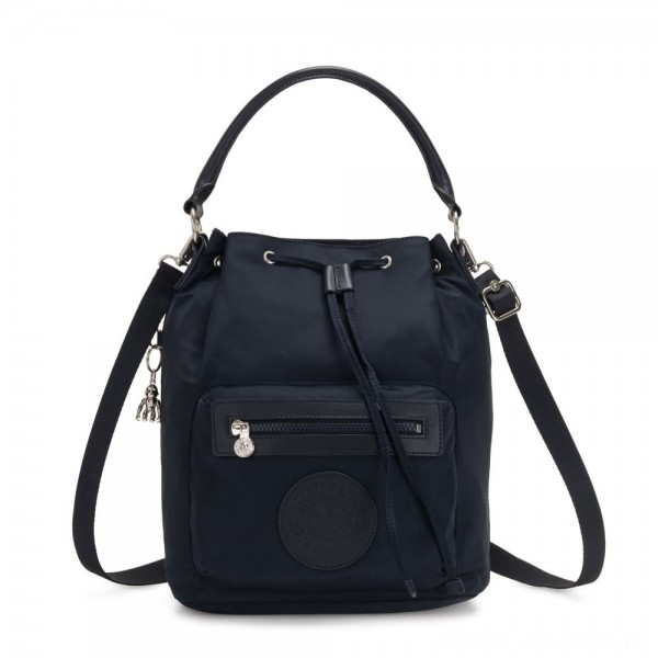 Black Friday 2020 - Kipling VIOLET Medium Backpack convertible to shoulderbag True Blue Twill