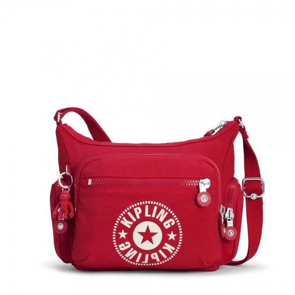 Kipling GABBIE S Crossbody Bag with Phone Compartment Lively Red