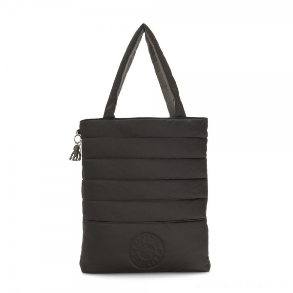 Black Friday 2020 - Kipling DOUBLE PUFF Large reversible Puff Tote Mountain Black