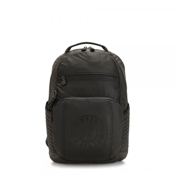 Kipling TROY EXTRA Large Backpack with Removable Chest Pocket Raw Black