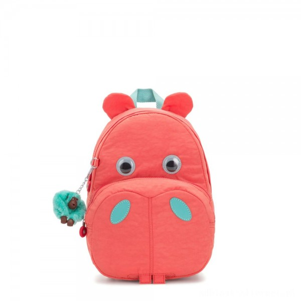 Black Friday 2020 - Kipling HIPPO Small hippo kids backpack Peachy Pink C