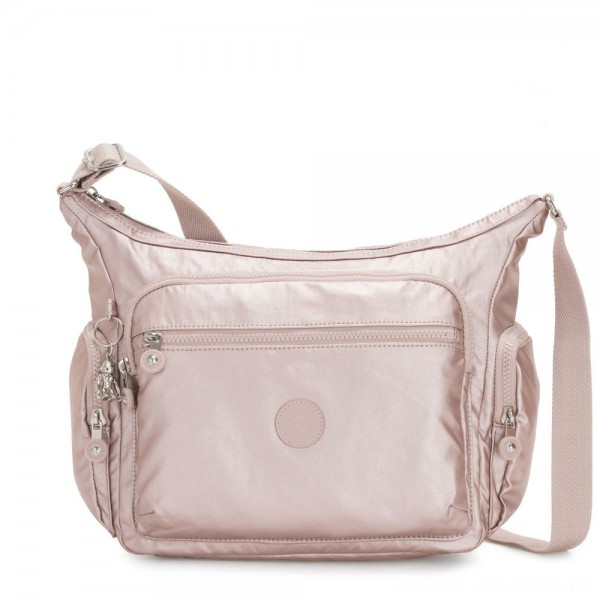 Black Friday 2020 - Kipling GABBIE Medium Shoulder Bag Metallic Rose