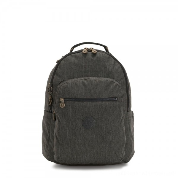 Black Friday 2020 - Kipling SEOUL Large backpack with Laptop Protection Black Indigo