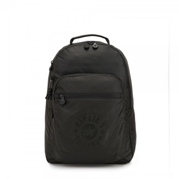 Kipling CLAS SEOUL Water Repellent Backpack with Laptop Compartment Raw Black