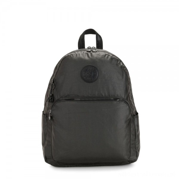 Kipling CITRINE Large Backpack with Laptop/Tablet Compartment Black Metallic