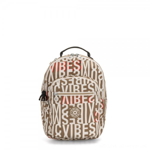 Black Friday 2020 - Kipling SEOUL S Small Backpack with Tablet Compartment Studio Print