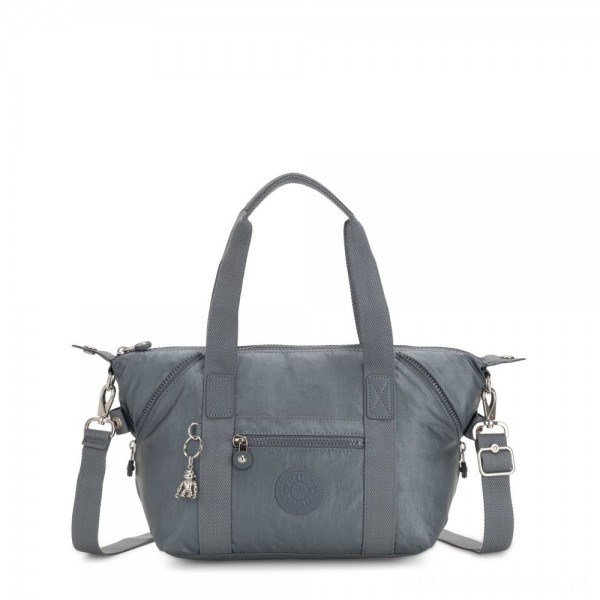 Kipling ART MINI Handbag Steel Grey Metallic