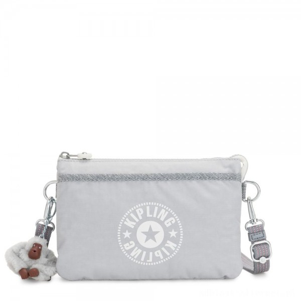 Kipling RIRI Small crossbody bag convertible to pouch Active Grey C