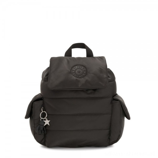 Black Friday 2020 - Kipling MANITO Small Puff Effect Backpack Cold Black