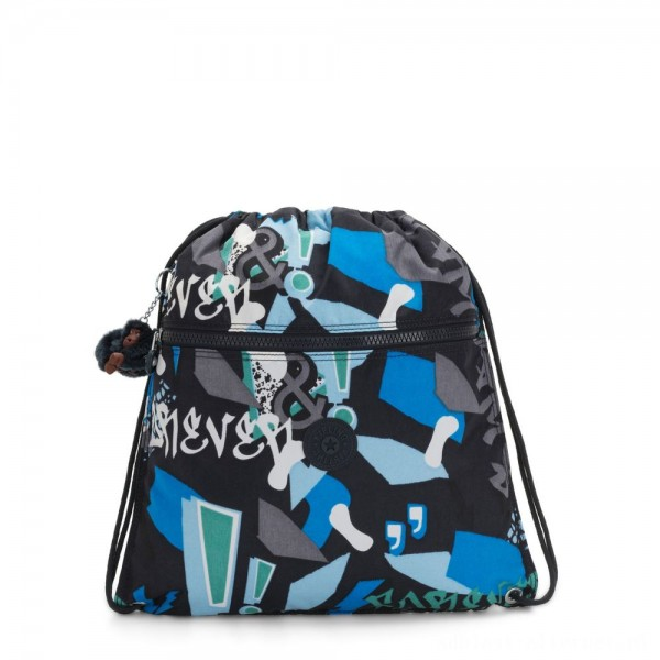 Black Friday 2020 - Kipling SUPERTABOO Medium Drawstring Bag Epic Boys