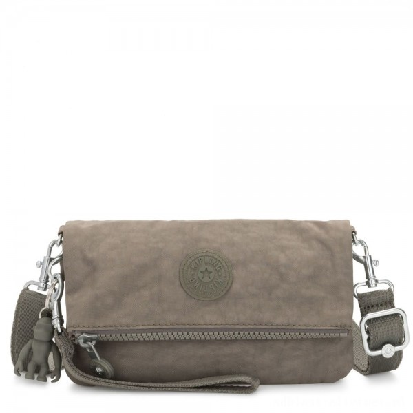 Black Friday 2020 - Kipling LYNNE Small Crossbody Bag with Removable Adjustable Shoulder strap Seagrass