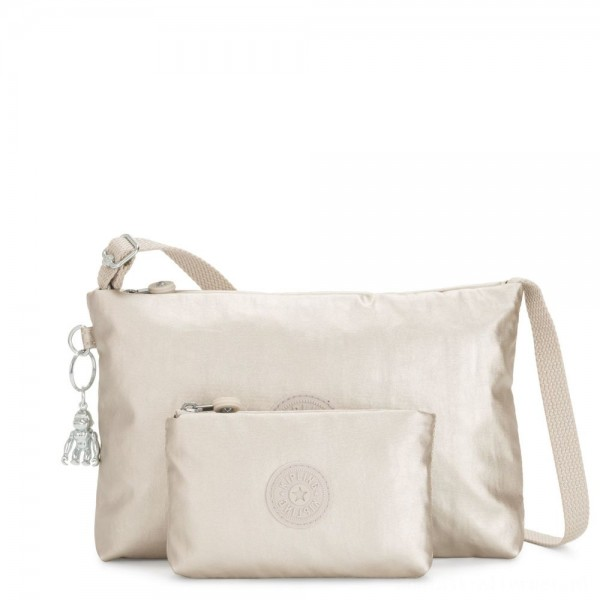 Black Friday 2020 - Kipling ATLEZ DUO Small Crossbody with Matching Pouch Cloud Metal Gifting
