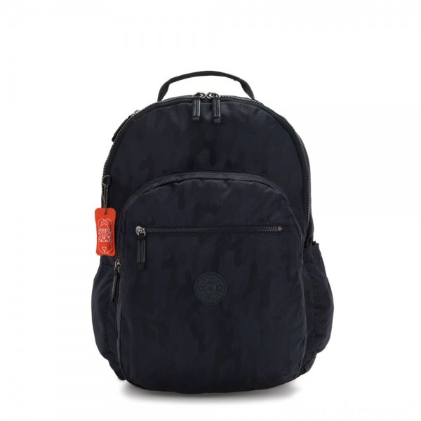 Kipling SEOUL XL Extra large backpack with laptop protection Blue Camo