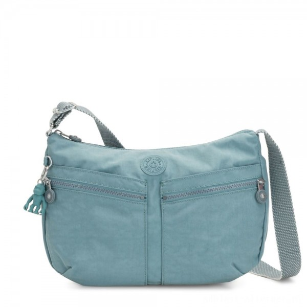 Black Friday 2020 - Kipling IZELLAH Medium Across Body Shoulder Bag Aqua Frost