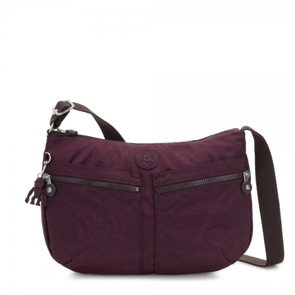Black Friday 2020 - Kipling IZELLAH Medium Across Body Shoulder Bag Dark Plum